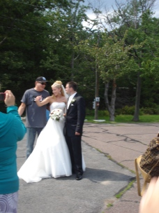 While visiting Lake Scranton, this couple was taking wedding pix, so natch, Bob Vance took pix with them.