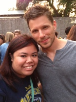 "I apologized to Matt Lauria for wearing the wrong shirt, and he said, ""Wrong side of the tracks, babe."" DEAD."