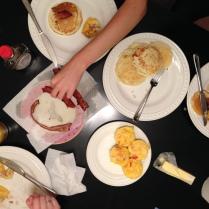 ricotta lemon pancakes and omlette bites